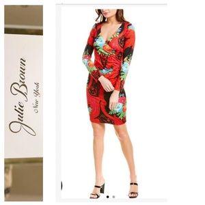 ⬇️🔥NWT Julie Brown Lila Jersey Floral Print Wrap
